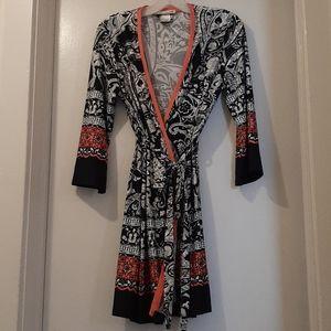 LINEA  DONATELLA  robe black/white/orange S/M